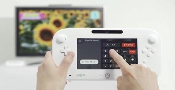 Wii U Gamepad usandose como control remoto para el televisor