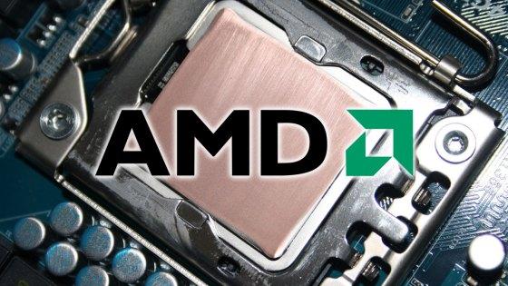 Imagen de un chip radeon con el logo de AMD