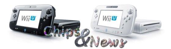 WiiU Negra y Blanca con logo chipsandnews
