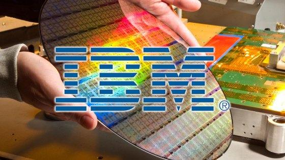 Una platina de fabricación de los IBM Power7
