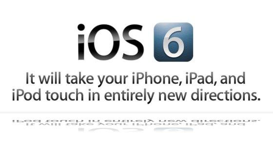 Logo de iOS6 con su eslogan de prelanzamiento