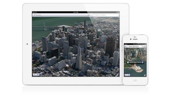 Vista 3D de la nueva aplicación de mapas para iOS
