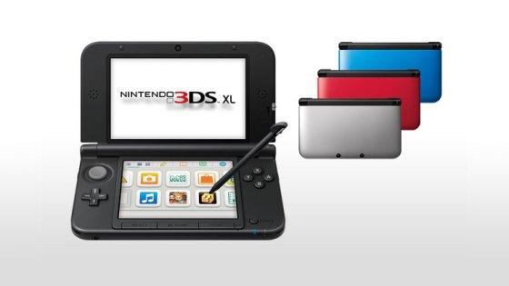 Nintendo 3DS XL y sus colores de lanzamiento
