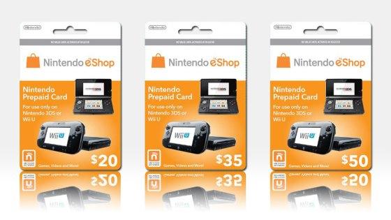 Tarjetas prepago de para a Nintendo eShop en dolares