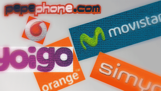 Logos de PepePhone, Vodafone, Yoigo, Orange, Simyo y Movistar