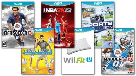 Carátulas de 6 juegos deportivos para WiiU