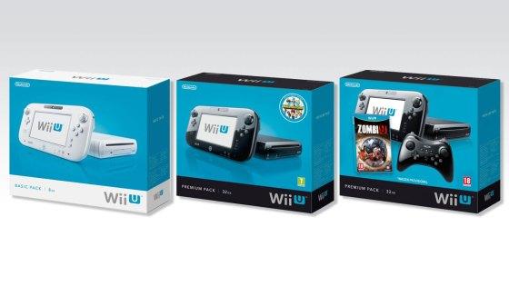 Cajas provisionales de los packs de lanzamiento de Wii U en Europa