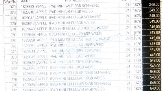 Precios del iPad Mini