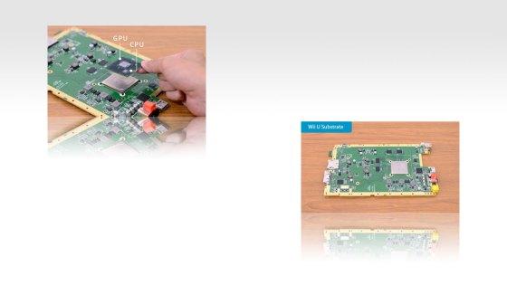 CPU, GPU y placa base de Wii U