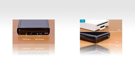 Botón de sincronización, USB y tapa deslizante
