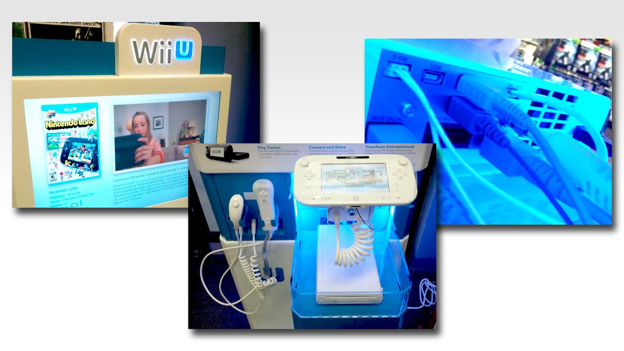 Primeras imágenes de los expositores de Wii U