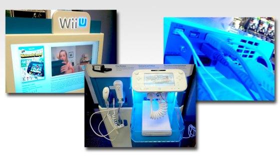 Stand de demostración de Wii U