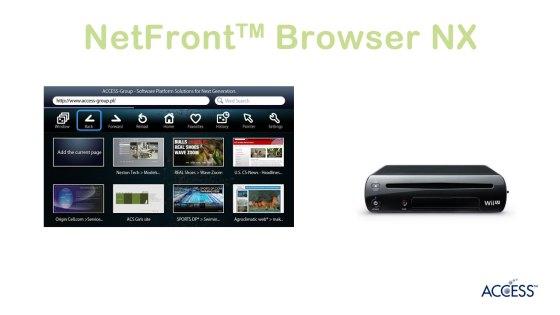 NetFront Browser NX en Wii U
