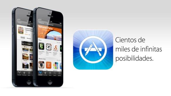 Icono de la App Store junto al iPhone 5
