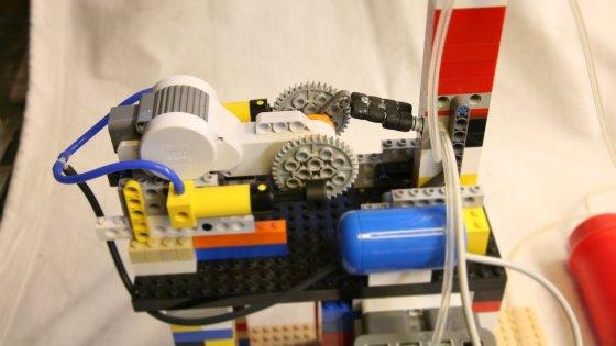 Maquina de tortitas americanas de LEGO