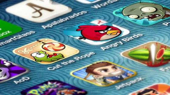 Primer plano iconos de aplicaciones iOS