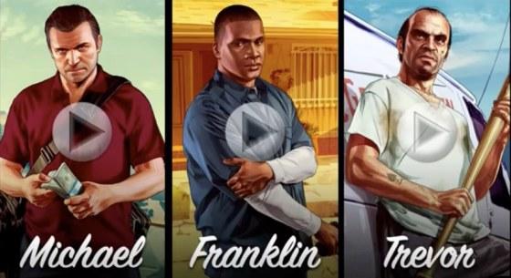 GTA V Michael Frankiln Trevor