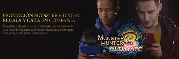 Llevate a un amigo de caza. ¡¡Nintendo regala una copia de Monster Hunter 3 a tu amigo!!