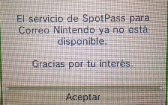 Spot Pass Correo 3DS Off