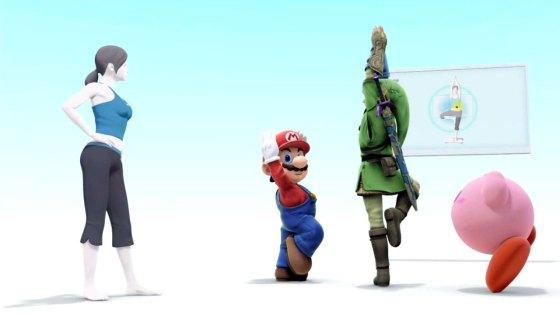 Nintendo Wii fit meet Smash Bros