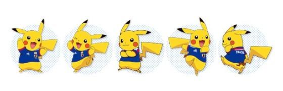Pikachu viste camiseta selección Japón