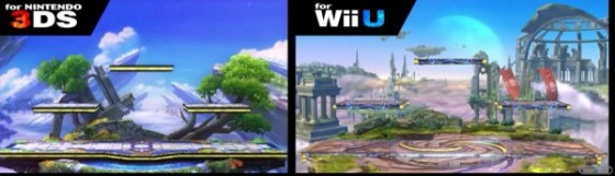 Escenario 3DS vs WiiU Smash bros 00