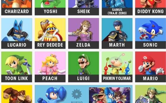 Plantilla luchadores Smash Bros 00