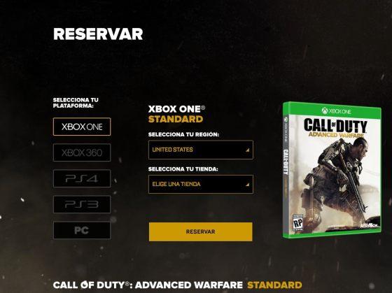 Call of Duty Advance Warfare Reservas 00