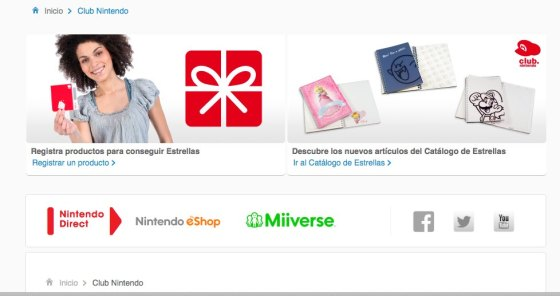 Captura Registra tu producto Nintendo