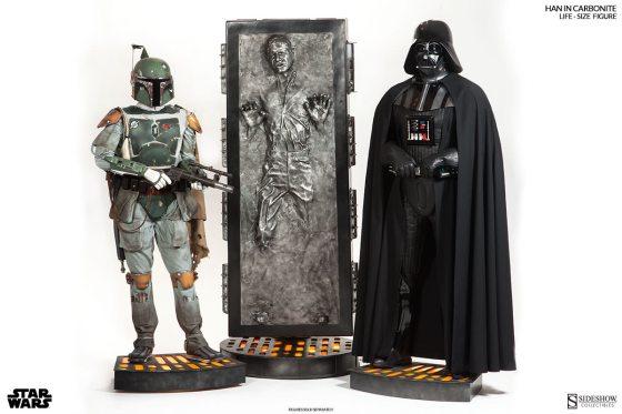 Han Solo Carbonita tamaño real 00