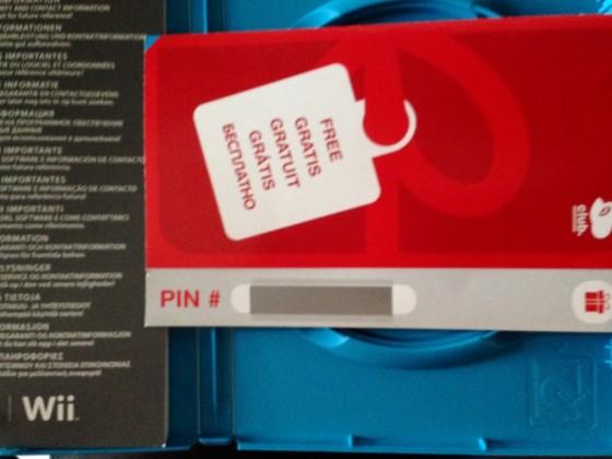 Tarjeta PIN Nintendo