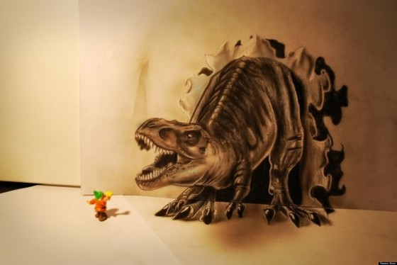 Dinosaurio cazagnomos 3D