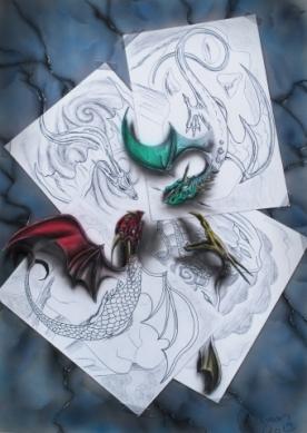 Dragones cogiendo vida 3D