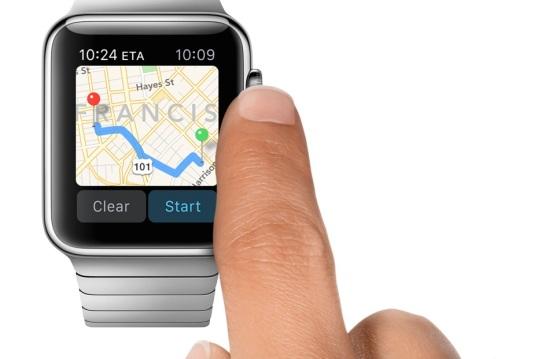 Apple Watch Mapas control