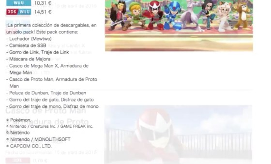 DLC Pack completo Super Smash Bros 01